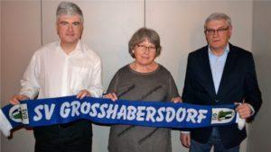 Der neue Vereinsvorstand - v.l.n.r. Michael Schunke, Erika Bingold, Manfred Falk