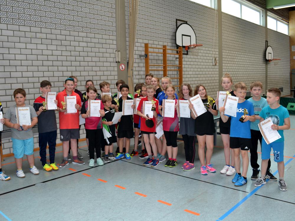 Teilnehmer der Kreisligameisterschaft der Jugend in Retzelfembach