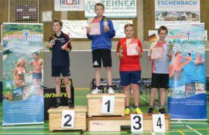 Siegerehrung beim Verbandsentscheid der Mini-Meisterschaften 2017 in Bad Königshofen