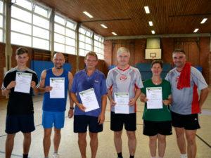 Tischtennis Vereinsmeisterschaft Doppel 2018