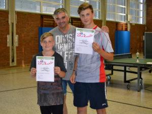 Tischtennis Doppel Vereinsmeisterschaft der Jugend 2018