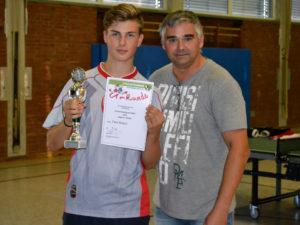 Einzel Tischtennis Vereinsmeisterschaft der Jugend 2018