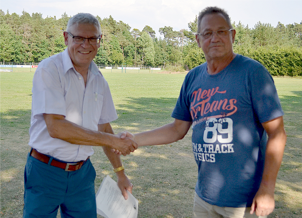 Neuer Platzwart Hans-Peter Bethge