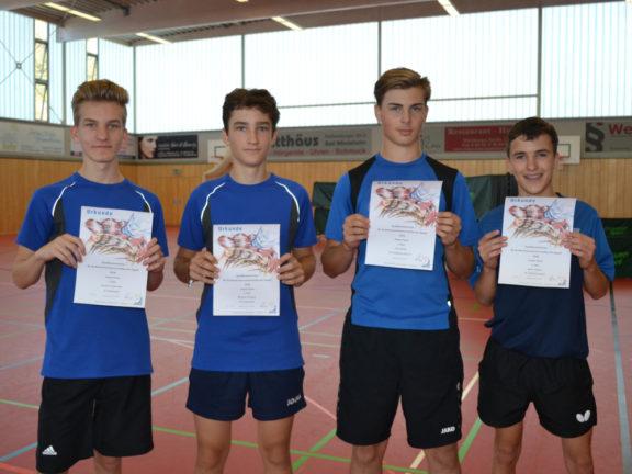 Bezirkseinzelmeisterschaft der Jugend in Marktbergel