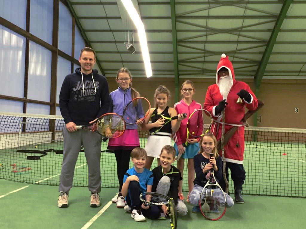 Weihnachtsgrüße Tennis Kids