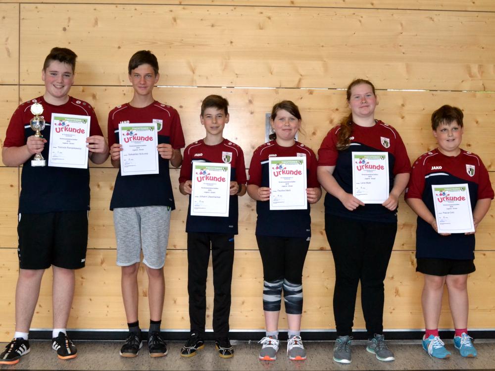 Tischtennis Vereinsmeisterschaft Jugend 2019