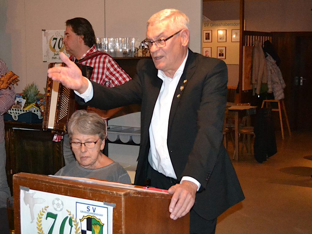 Manfred Falk 1. Vorstand SV Großhabersdorf